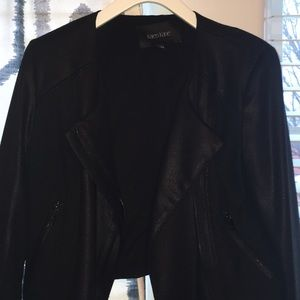 Karen Kane Byzantine Motorcycle Jacket in Black